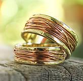 Prstene - Prepletené cesty osudu /žlto-červené/ - 10207564_