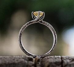 Prstene - Ako požiadať divožienku o ruku (verzia s prírodným citrínom) - 10206979_