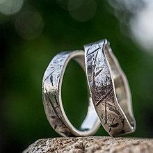 Prstene - Na vlne času  (verzia v striebre + patina) - 10207220_