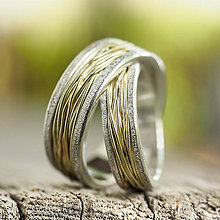 Prstene - Prepletené cesty osudu ...kombi zlatá obrúčka - 10207992_