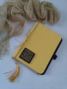 Papiernictvo - Zlatom vyšívaný (zápisník) - 10206550_