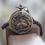 Iné - Mechanické vreckové hodinky s kroužkovanou reťazou (44) - 10203892_