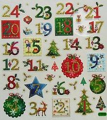 Papier - Sada samolepiek, 15x17 cm, vianočné, gule, stromčeky - 10205134_