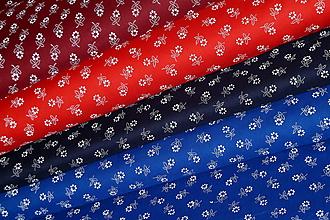 Textil - Kvietky sťa modrotlač (Bordová) - 10207296_