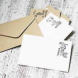 Papier - Miniobálka s vintage pečiatkou - 10208411_