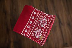 """Textil - Detská deka,""""Nórsky vzor"""", OEKO-TEX® - Červeno-Biela - 10204771_"""