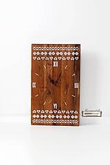 Hodiny - Dubové hodiny - Čičmiansky ornament - 10206043_