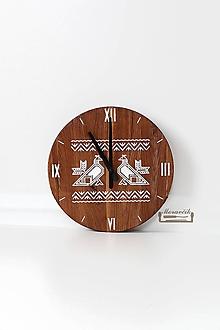 Hodiny - Dubové hodiny - Čičmiansky kohút - 10205927_