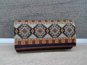 Peňaženky - Peňaženka na 12 kariet,koženka, bavlna - 10205044_