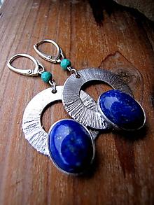 Náušnice - Lapis Lazuli ( Ag 925/1000 háčiky) - 10207866_