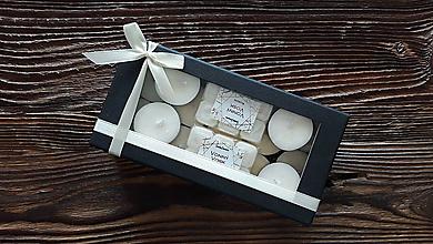 Svietidlá a sviečky - Čajové sviečky zo 100% sójového vosku 14ks + Vonný vosk 2x6ks zo 100% palmového vosku - Kokos+Vanilka - 10204799_
