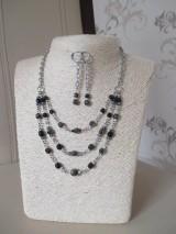 Sady šperkov - Náhrdelník a náušnice - chirurgická oceľ - 10204632_