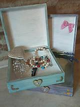 Krabičky - Dievčenská šperkovnica tyrkysová - Princezná a biely kôň - 10205452_