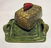 Nádoby - maselnička-nádoba na maslo - 10203902_