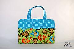 Detské tašky - Detský kufrík - pastelkovník Opice II. - 10207392_