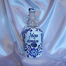 Iné - Fľaša na slivovicu Moja domáca - 10207023_