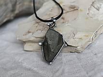 Náhrdelníky - Molekula (pyrit) - 10206535_