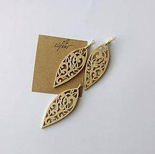 """Sady šperkov - Náušnice + prívesok """"Láska""""  (list zlaté) - 10204212_"""
