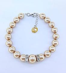 Náramky - Bracelet brown - 10203786_