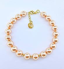 Náramky - Bracelet peach - 10203907_