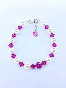 Náramky - Bracelet cyclamen - 10203932_