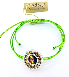 Náramky - Mini soutache náramok (zelený so sivou) - 10204237_