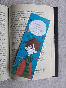 Knihy - Záložka do knihy - Chlapček s lampášikom - 10205712_