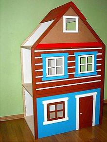 Nábytok - Drevený domček pre barbie - 10204012_