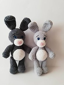 Hračky - Svetlo sivý zajačik - 10206412_