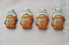 Dekorácie - Vianočný medovníkový macko - 10205242_