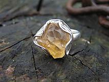 - Strieborny prsteň Ag925 Citrín - 10204978_