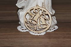 Polotovary - vianočný výrez zvonček - 10204619_