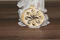 Polotovary - vianočný výrez kvet - 10204629_