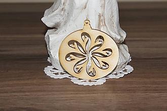 Polotovary - vianočný výrez kvet - 10204631_