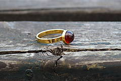 Prstene - Granát prsteň Ag 925 s Au - 10206189_