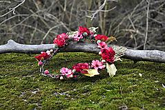Ozdoby do vlasov - Kvetinový venček Mistletoe - 10203847_