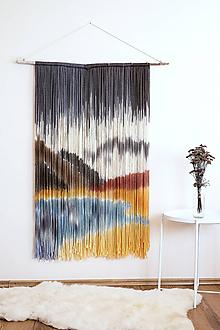 """Dekorácie - Nástenná dekorácia z dreva a vlny """"Roháče"""" - 10207343_"""