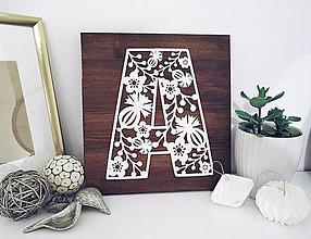 Dekorácie - Monogram na mieru - maky a čerešne - 10208146_