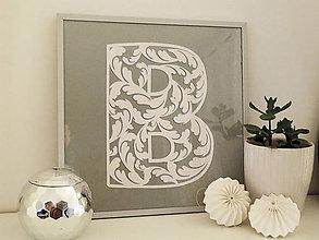 Dekorácie - Monogram na mieru  - damask - 10208367_