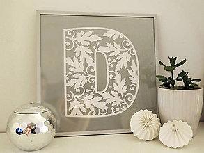 Dekorácie - Monogram na mieru  - floral - 10208389_