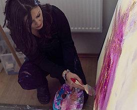 Kurzy - Vianočný voucher/ arteterapia /spontánne maľovanie - 10204548_