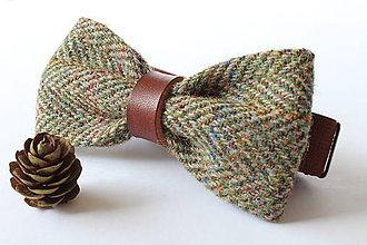 Doplnky - Vlnený motýlik - Harris Tweed - 10205918_