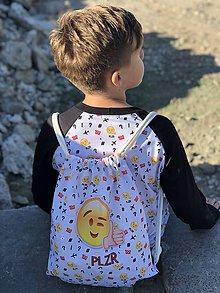 Batohy - Biely vak s potlačou Emoji - 10207967_