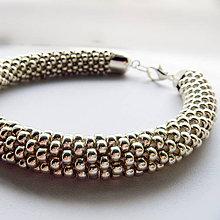 Sady šperkov - Set Eleganz v drevenej darčekovej kazete (Strieborná) - 10203935_