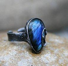 Prstene - Labradorit prsteň - 10205306_