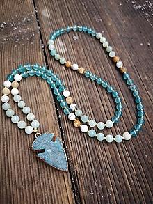 Náhrdelníky - Náhrdelník z minerálov jadeit, magnezit, jaspis, amazonit - 10204840_