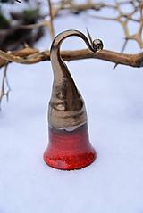Dekorácie - ♥ Zvončekovo ♥ (cca 15 cm - Červená) - 10203859_