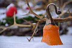Dekorácie - ♥ Zvončekovo ♥ (cca 15 cm - Oranžová) - 10203883_