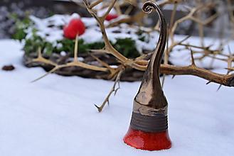 Dekorácie - ♥ Zvončekovo ♥ (cca 16 cm - Červená) - 10203870_