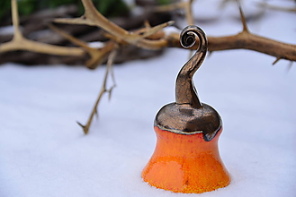 Dekorácie - ♥ Zvončekovo ♥ (cca 15 cm - Oranžová) - 10203871_